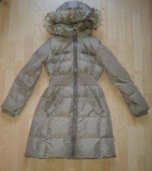 Mango Suit Płaszcz puchowy szaro-brązowy