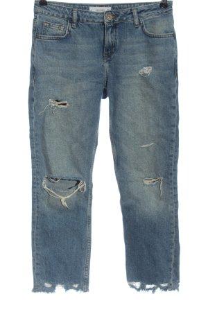 Mango Denim & Tees Jeans 7/8 bleu style décontracté