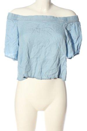Mango Denim & Tees Koszula typu carmen niebieski W stylu casual
