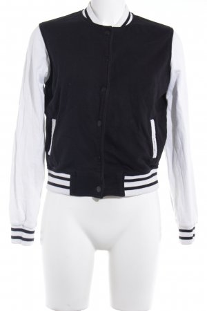 Mango Denim & Tees College Jacket black-white casual look