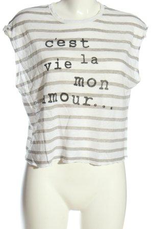 Mango Denim & Tees Camisa recortada letras impresas look casual