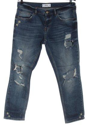 Mango Denim & Tees Jeans taille haute bleu style décontracté