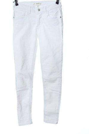 Mango Denim & Tees High Waist Jeans weiß Casual-Look