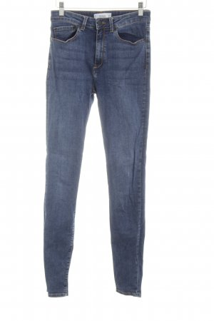 Mango Denim & Tees Hoge taille jeans neon blauw casual uitstraling