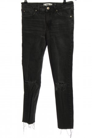 Mango Denim & Tees High Waist Jeans schwarz Casual-Look