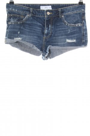 Mango Denim & Tees Hot Pants blau Casual-Look