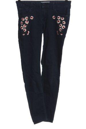 Mango Denim & Tees Jeans taille basse motif de fleur style décontracté