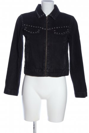 Mango Denim & Tees Jeansjacke schwarz Casual-Look