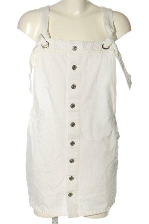 Mango Denim & Tees Vestido vaquero blanco puro look casual