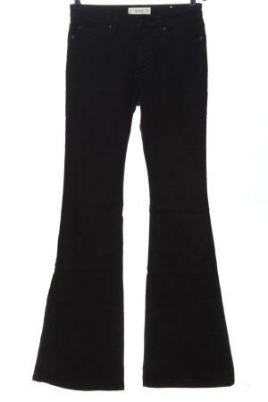 Mango Denim & Tees Jeansschlaghose schwarz Casual-Look
