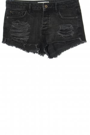 Mango Denim & Tees Pantalón corto de tela vaquera negro look casual