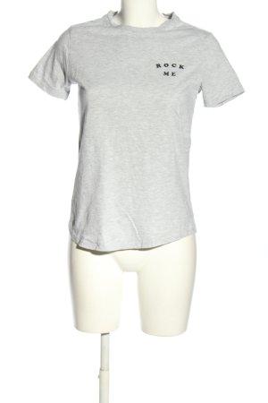 Mango Denim & Tees Print-Shirt hellgrau meliert Casual-Look