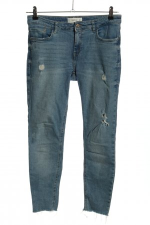 Mango Denim & Tees Röhrenjeans blau Casual-Look