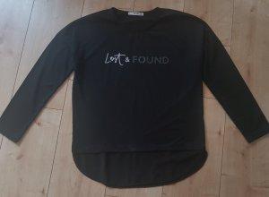 Mango Denim & Tees Shirt Longsleeve Langarmshirt Lost & Found Schwarz Black S 36