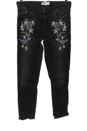 Mango Denim & Tees Skinny Jeans schwarz-hellgrau Casual-Look