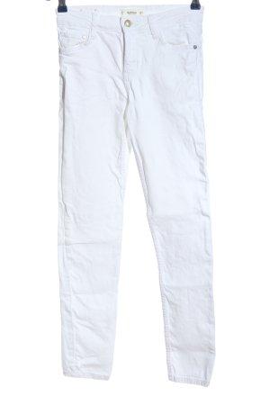 Mango Denim & Tees Skinny Jeans weiß Casual-Look