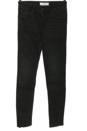 Mango Denim & Tees Slim Jeans schwarz Casual-Look