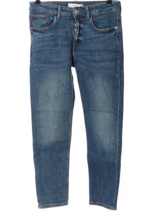 Mango Denim & Tees Jeansy z prostymi nogawkami niebieski W stylu casual