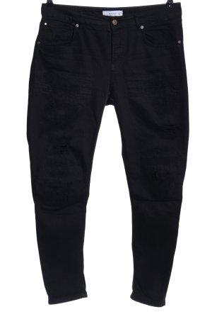 Mango Denim & Tees Jeansy z prostymi nogawkami czarny W stylu casual