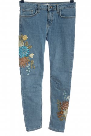 Mango Denim & Tees Stretch Jeans Blumenmuster Casual-Look
