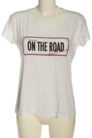 Mango Denim & Tees T-shirt lettrage imprimé style décontracté