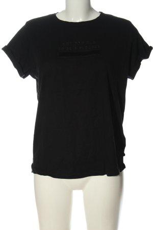 Mango Denim & Tees T-shirt nero caratteri stampati stile casual