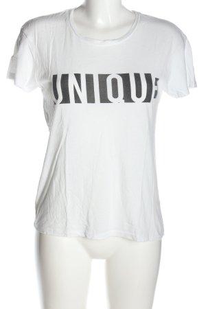 Mango Denim & Tees T-Shirt weiß Schriftzug gedruckt Casual-Look