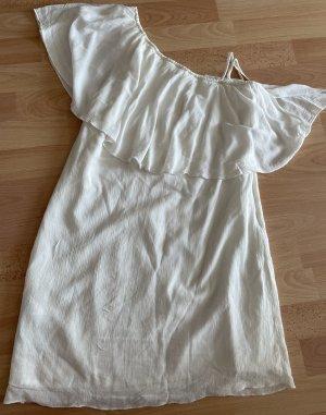 Mango Vestido de un hombro blanco