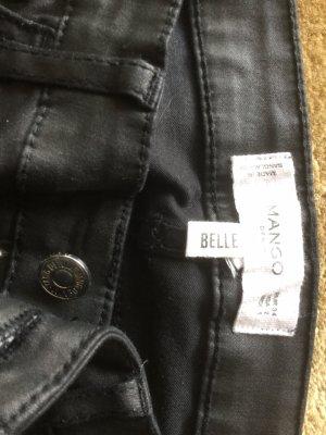 Mango pantalón de cintura baja negro