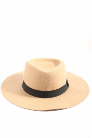 Mango Felt Hat natural white-black business style