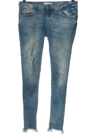 Mango Pantalón de cinco bolsillos azul look casual