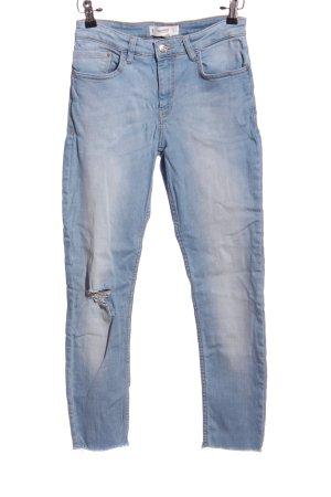 Mango Five-Pocket-Hose blau Casual-Look