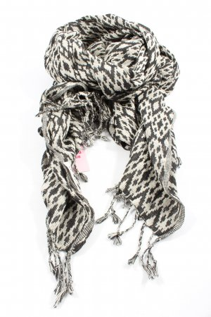 Mango Fringed Scarf black-natural white allover print casual look