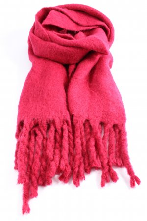 Mango Écharpe à franges rose style décontracté