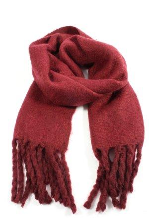 Mango Sjaal met franjes rood casual uitstraling