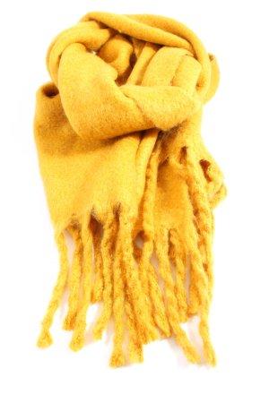 Mango Sciarpa con frange giallo pallido stile casual