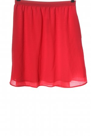 Mango Flared Skirt red casual look