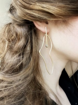Mango Statement Earrings gold-colored metal