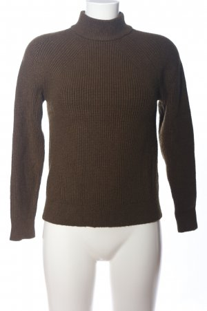 Mango Coarse Knitted Sweater brown casual look