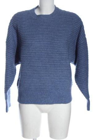 Mango Pullover a maglia grossa blu punto treccia stile casual