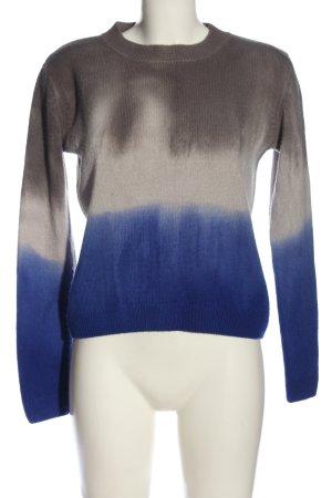 Mango Pullover a maglia grossa blu-grigio chiaro Colore sfumato stile casual