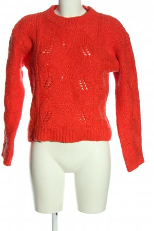Mango Coarse Knitted Sweater red casual look