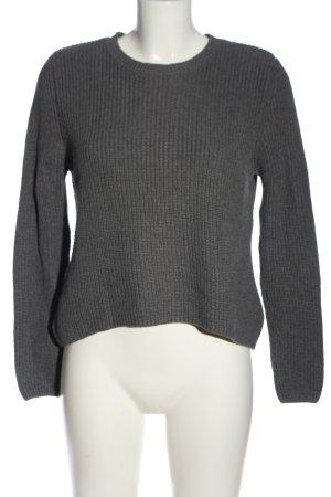 Mango Crochet Sweater light grey casual look