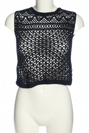 Mango Crochet Top black casual look