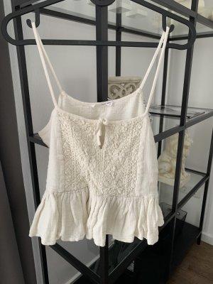 Mango Crochet Top natural white-cream