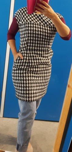 Mango Hahnentrittmuster knielange Strukturiertes Schmaler Bleistift Kleid
