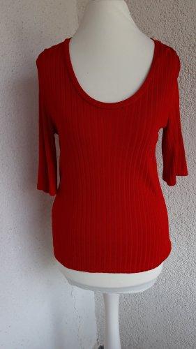 Mango Ribbed Shirt brick red