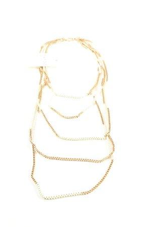 Mango Halskette goldfarben Casual-Look