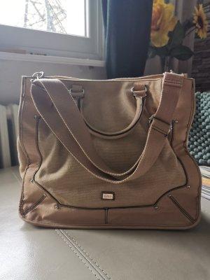 Mango Handtasche Tasche groß geräumig beige Creme