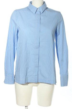 Mango Hemd-Bluse blau-weiß Streifenmuster Business-Look